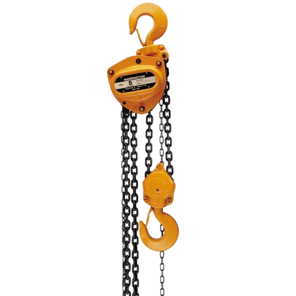 Harrington 1-1/2 Ton Chain Fall Hand Chain Hoist with 20FT Chain - Remanufactured - General Equipment & Supply
