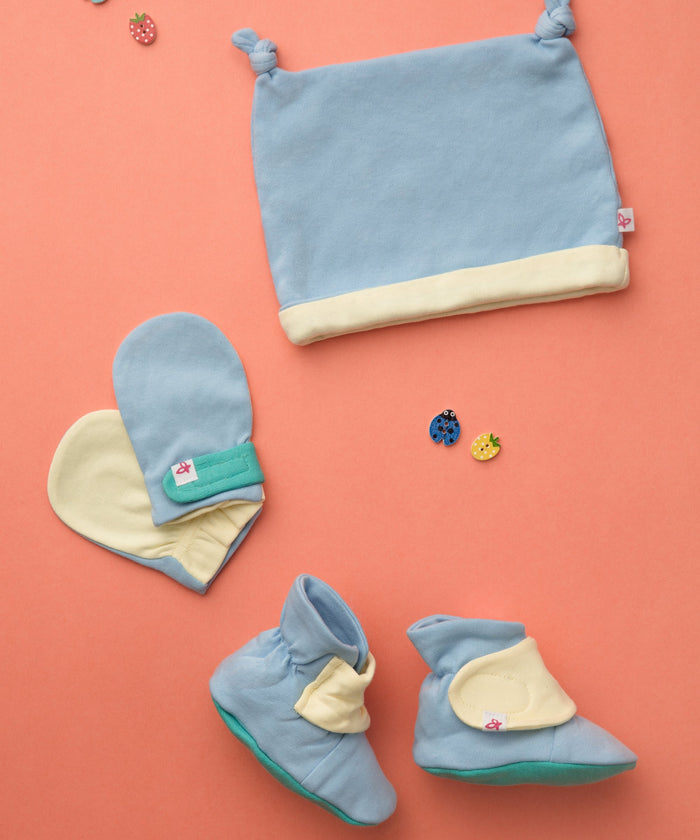 Color Palette - Booties, Mittens & Cap Set