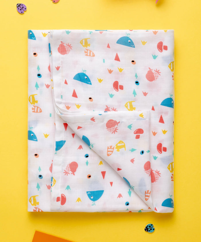 At The Beach - Muslin Swaddle