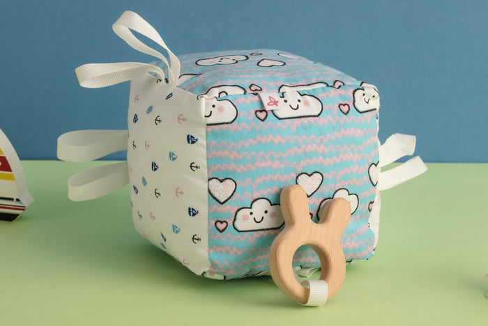 Cloudy Day - Teething Cube