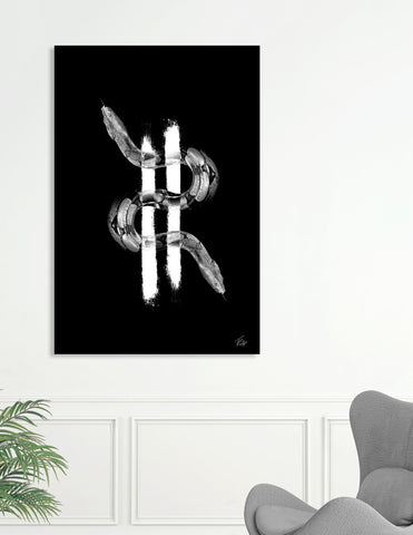 BLACK & WHITE ANIMAL CANVAS ART_money_snakes