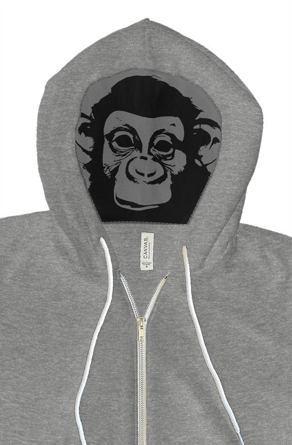 Dope Monkey Hoodie Grey - TrapMonkie Aesthetic Clothing, Monkey Streetwear, Trap Shop, Trap Fits, Custom Skateboards, Monkey Gear