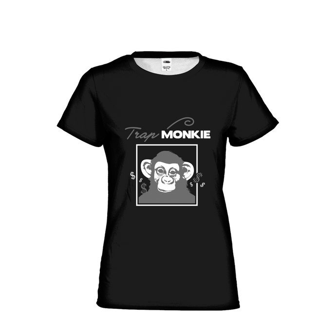 TrapMonkie Womens T-Shirt - TrapMonkie Aesthetic Clothing, Monkey Streetwear, Trap Shop, Trap Fits, Custom Skateboards, Monkey Gear