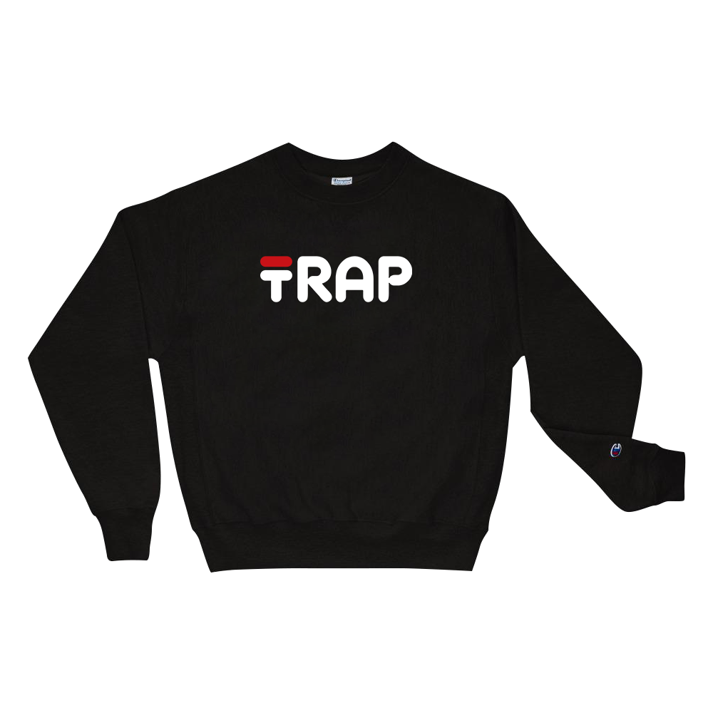 FILA TRAP Champion Sweatshirt - TrapMonkie Aesthetic Clothing, Monkey Streetwear, Trap Shop, Trap Fits, Custom Skateboards, Monkey Gear