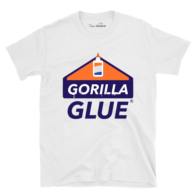 Gorilla Glue T-Shirt - TrapMonkie Aesthetic Clothing, Monkey Streetwear, Trap Shop, Trap Fits, Custom Skateboards, Monkey Gear