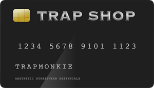 TRAP SHOP - Gift Card - TrapMonkie Aesthetic Clothing, Monkey Streetwear, Trap Shop, Trap Fits, Custom Skateboards, Monkey Gear