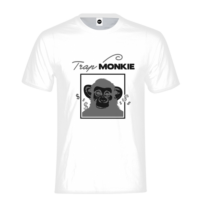 Monkey Face Mens Tee - TrapMonkie Aesthetic Clothing, Monkey Streetwear, Trap Shop, Trap Fits, Custom Skateboards, Monkey Gear