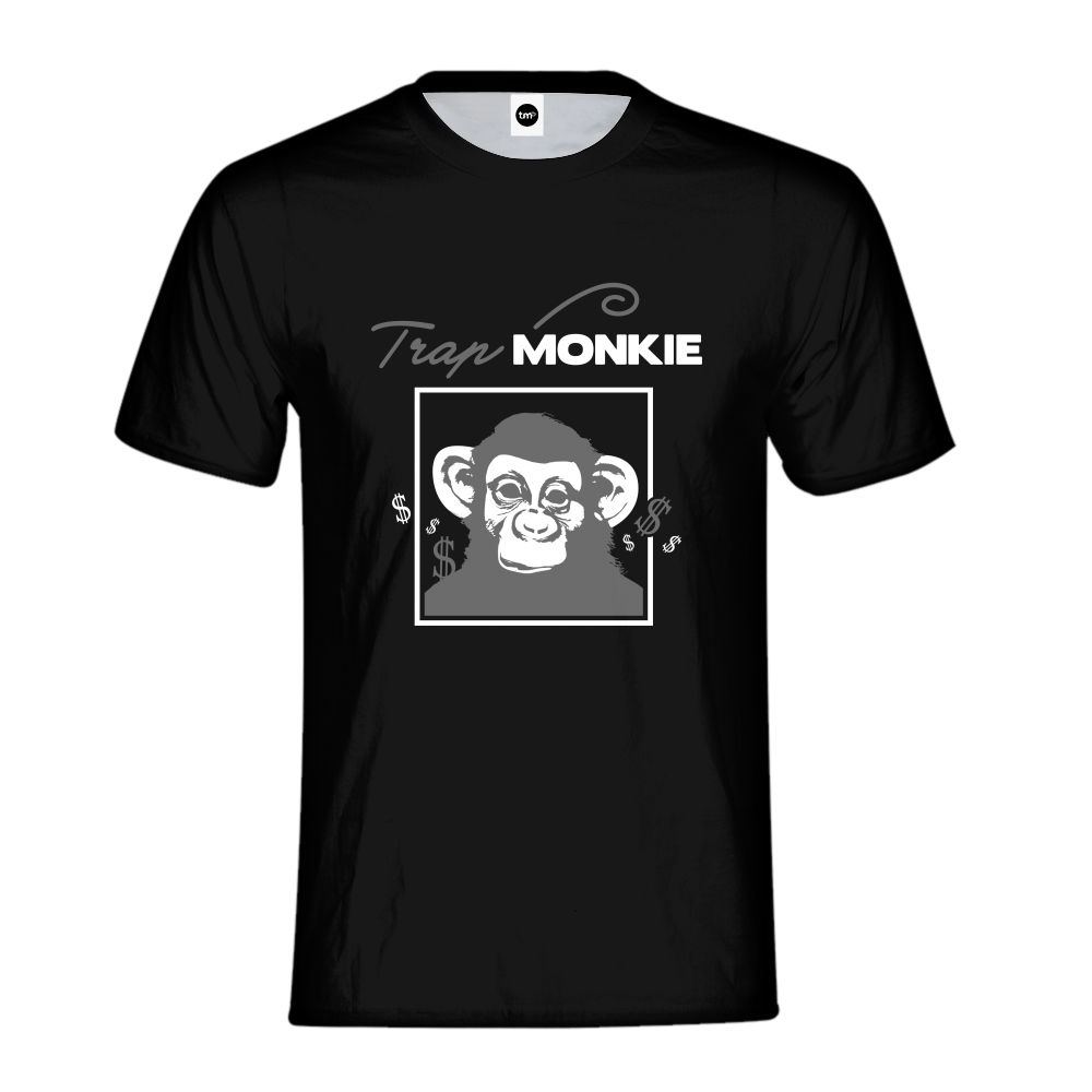 TrapMonkie Mens T-Shirt - TrapMonkie Aesthetic Clothing, Monkey Streetwear, Trap Shop, Trap Fits, Custom Skateboards, Monkey Gear