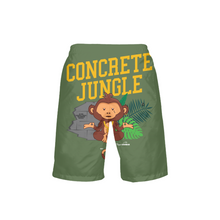 Load image into Gallery viewer, Concrete Jungle Boys Swim Trunks - TrapMonkie