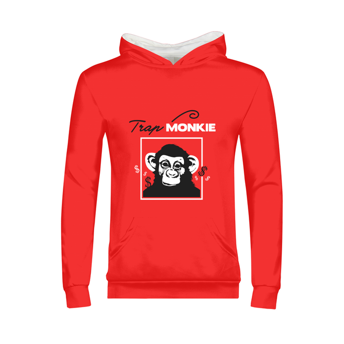 TrapMonkie Kids Hoodie - TrapMonkie Aesthetic Clothing, Monkey Streetwear, Trap Shop, Trap Fits, Custom Skateboards, Monkey Gear