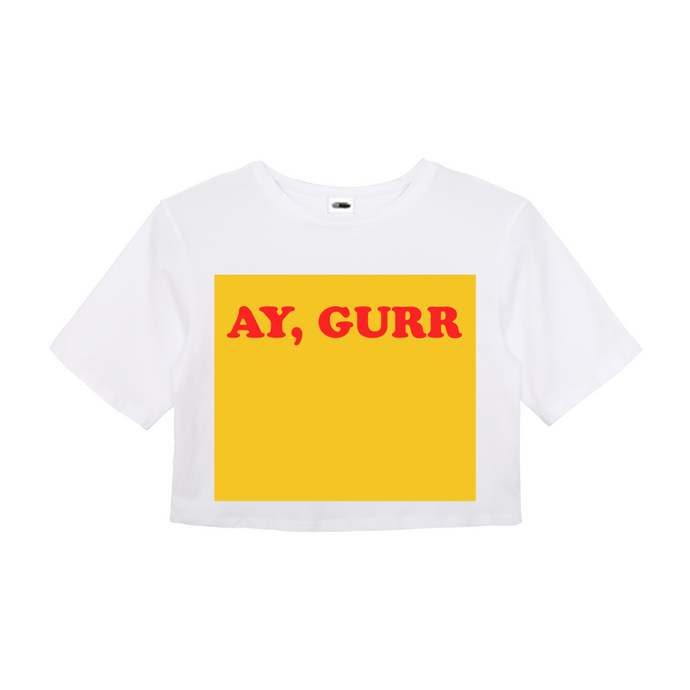 Ay Gurr Crop Top - TrapMonkie Aesthetic Clothing, Monkey Streetwear, Trap Shop, Trap Fits, Custom Skateboards, Monkey Gear