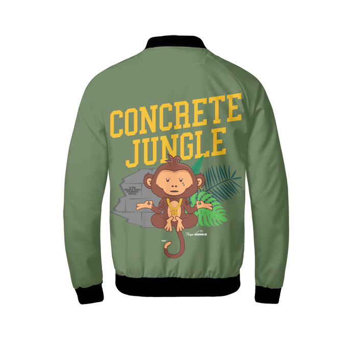 TrapMonkie | Concrete Jungle | Bomber Jacket - TrapMonkie Aesthetic Clothing, Monkey Streetwear, Trap Shop, Trap Fits, Custom Skateboards, Monkey Gear
