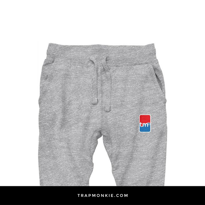 TM Basketball Grey Joggers - TrapMonkie Aesthetic Clothing, Monkey Streetwear, Trap Shop, Trap Fits, Custom Skateboards, Monkey Gear