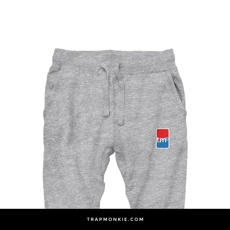 TM Basketball Grey Joggers - TrapMonkie