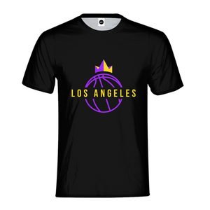 Los Angeles Crown Mens T-Shirt - TrapMonkie Aesthetic Clothing, Monkey Streetwear, Trap Shop, Trap Fits, Custom Skateboards, Monkey Gear