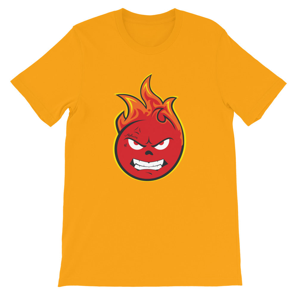 Flamezz Fire Emoji Unisex T-Shirt - TrapMonkie Aesthetic Clothing, Monkey Streetwear, Trap Shop, Trap Fits, Custom Skateboards, Monkey Gear