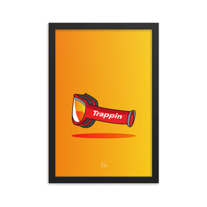 Trappin' Goggles Framed Poster - TrapMonkie Aesthetic Clothing, Monkey Streetwear, Trap Shop, Trap Fits, Custom Skateboards, Monkey Gear