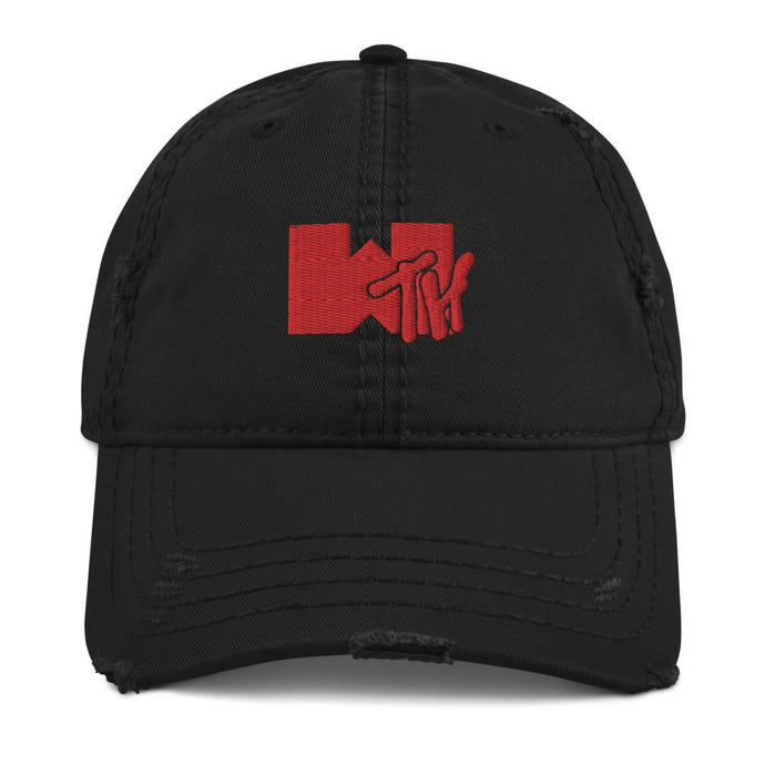 WTH What The Hell Distressed Dad Hat - TrapMonkie Aesthetic Clothing, Monkey Streetwear, Trap Shop, Trap Fits, Custom Skateboards, Monkey Gear