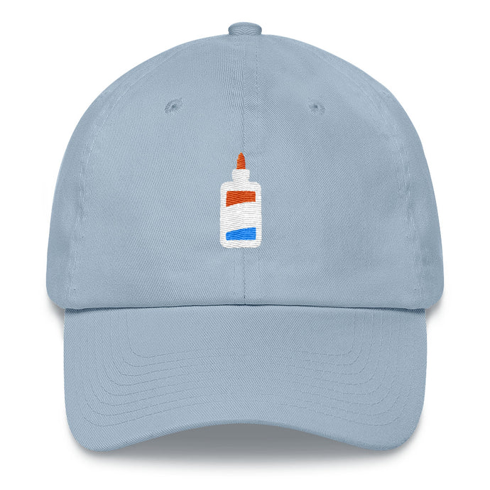 Elmer's Glue Embroidery Dad hat - TrapMonkie Aesthetic Clothing, Monkey Streetwear, Trap Shop, Trap Fits, Custom Skateboards, Monkey Gear