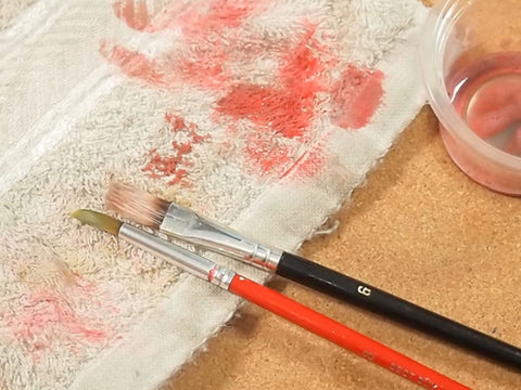 Paint by Numbers Brushes Cleaning