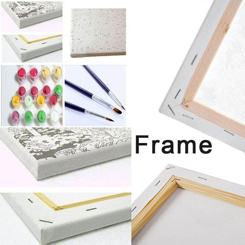 Framed Canvas for Paint by Numbers