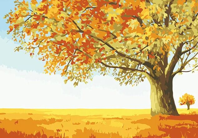 Autumn Tree Paint by Numbers Kit