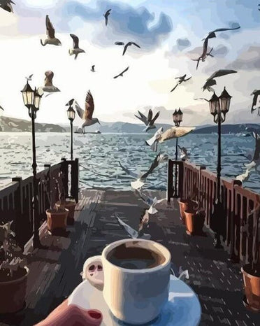 Coffee with an Amazing View