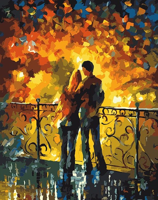 Couple in Love Paint by Numbers