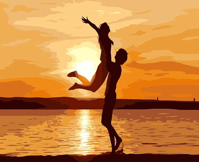 Dancing Couple on the Beach