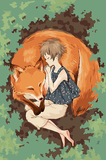 Girl & A Fox Painting