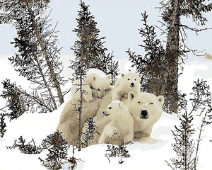 Polar Bears Family Painting
