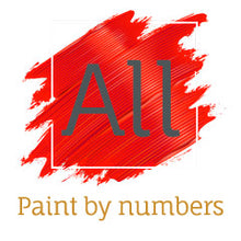"Load image into Gallery viewer, ""Abstract Deer"" Easy Paint by Numbers Kit"