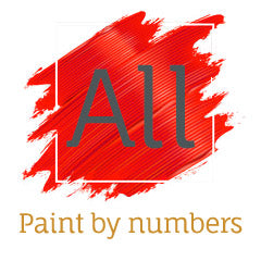 """Abstract Deer"" Easy Paint by Numbers Kit"