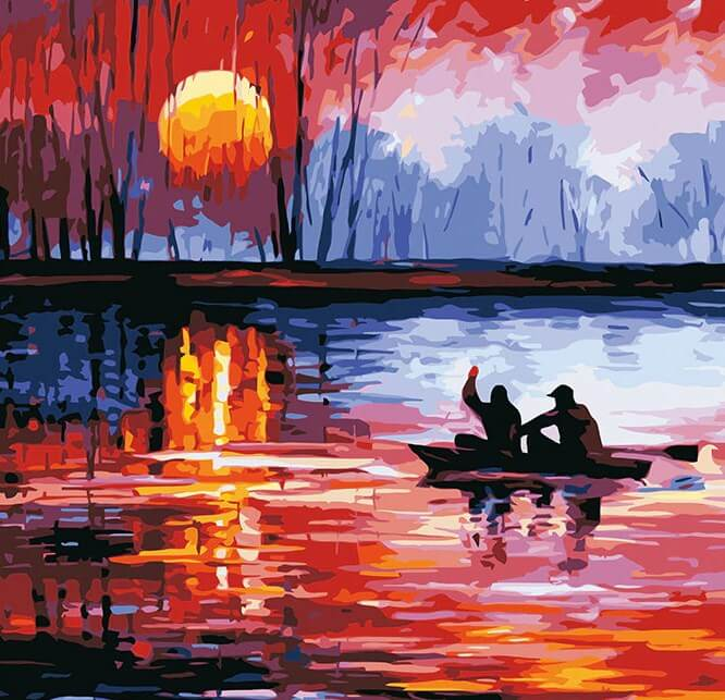 Sunset Scenery Paint by Numbers