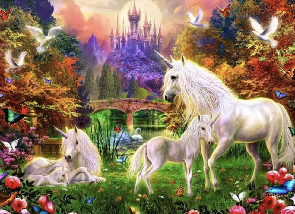 Unicorn Family Paint by Numbers