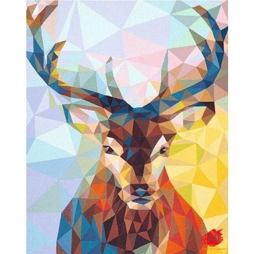 Paint By Numbers - Abstract Deer Easy Paint By Numbers Kit