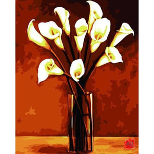 Paint By Numbers - White Lilies