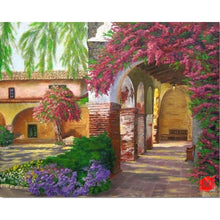 Load image into Gallery viewer, Paint By Numbers - Wonderful Huts Landscape & Flowers