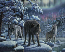 Load image into Gallery viewer, Wolves in the Night Painting