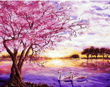 Load image into Gallery viewer, Cherry Tree along the River Painting