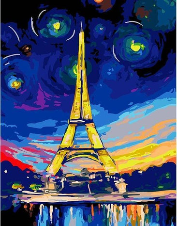 Eiffel Tower Painting by Numbers