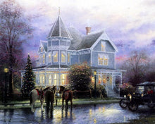 Load image into Gallery viewer, 1940's Villa, Car and Horses DIY Painting