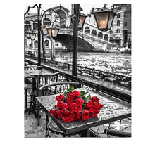 Load image into Gallery viewer, Red Roses Painting - DIY with Paint by Numbers