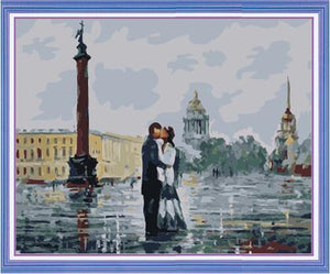 couple kissing paint by numbers