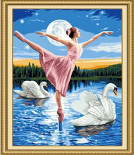 Load image into Gallery viewer, ballerina paint by numbers
