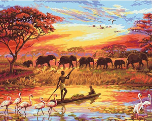 elephant paint by number