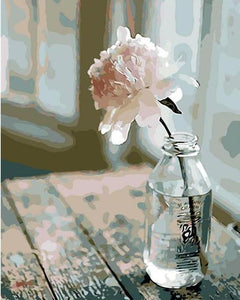 flower in a bottle painting