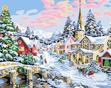 Load image into Gallery viewer, christmas art by numbers