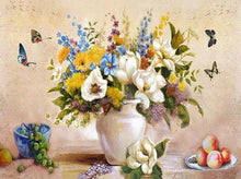 Load image into Gallery viewer, 15+ Flower Paint by Number Paintings - DIY and Hang on your Wwalls