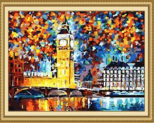 london paint by number kit